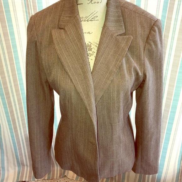 Jackets & Blazers - Brown Pinstripe Blazer